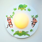 Funnylight kinderlampled  LED jungle wereld - Design plafonniere met glow in the dark sterren