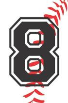 8 Journal: A Baseball Jersey Number #8 Eight Notebook For Writing And Notes: Great Personalized Gift For All Players, Coaches, An
