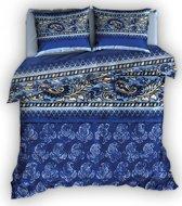 Romanette Paisley dekbedovertrek - Blauw - 1-persoons (140x200/220 cm + 1 sloop)
