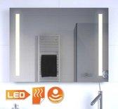 Luxe badkamer LED lichtspiegel met verwarming en sensor 80x60 cm