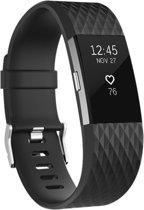YONO Siliconen bandje - Fitbit Charge 2 - Zwart - Large