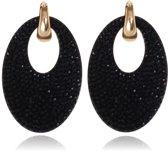 Ovale oorbellen Cilla Jewels Goudkleurig Zwart