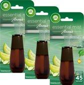 Air Wick Essential Mist Aroma Komkommer Navulling 3 x 20 ml - Voordeelverpakking