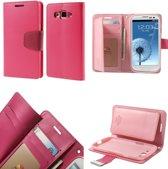 Mercury Rich Dairy wallet case hoesje Samsung Galaxy A3 2015 donker roze
