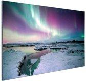 Verschillende kleuren noorderlicht Aluminium 90x60 cm - Foto print op Aluminium (metaal wanddecoratie)