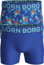 Bjorn Borg boxershorts Essential - 2-pack - blauw paradise -  Maat S