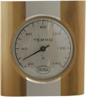 Saunia - sauna thermometer - hout met RVS