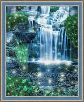 Diamond Painting Schijnende Waterval