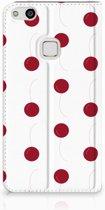 Huawei P10 Lite Standcase Hoesje Design Cherries