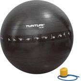 Tunturi Fitnessbal - Gymball - Swiss ball - 75 cm - Anti burst - Inclusief pomp - Zwart