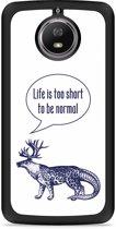 Moto G5S Hardcase Hoesje Life is too Short
