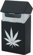 Handig Siliconen Sigarettendoosje - Etui - Zwart Wiet - Sigaretten Opbergen - Cover - Case