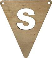Houten Vlagletter S | 11,5 cm