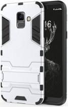 Samsung Galaxy A6 Hybride Stand Hoesje Zilver