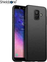 Shieldzone - Samsung Galaxy J4+ (PLUS) siliconen hoesje - Zwart