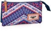 Etui - Polyester - El Charro Ethnic Denim - Meisjes - 22 cm - Paars en roze