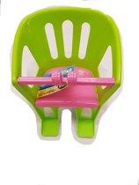 Lena Plastic fietsstoel voor de pop groen
