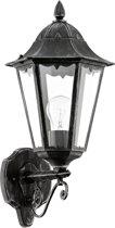 EGLO Navedo - Buitenverlichting - Wandlamp - 1 Lichts - Zwart, Zilver-Patina