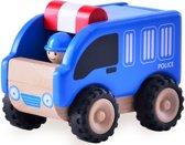 Houten speelgoedvoertuig Politieauto