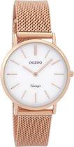 OOZOO Vintage Rosegoudkleurig/Parelmoer horloge  (32 mm) - Goudkleurig