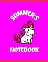 Summer's Notebook