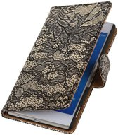 Wicked Narwal | Lace bookstyle / book case/ wallet case Hoes voor sony Xperia Z4 Z3+ Zwart