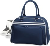 Bagbase Retro bowlingtas, Kleur French Navy/ White