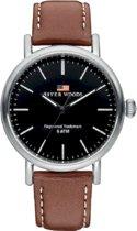 River Woods RW420024 Hudson horloge Heren - Bruin - Leer 42 mm