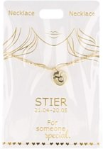 Ketting Stier, gold plated
