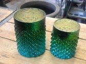 Waxinelichthouder - T.L Houder Turquoise   - kaarsenhouder -  theelichtenhouder- sfeerlicht - **2 STUKS**