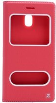 Teleplus Samsung J3 Pro Galaxy Double Window Case Red hoesje
