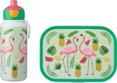 Mepal Campus lunchset - drinkfles en lunchbox - Tropical Flamingo