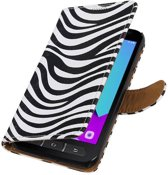 Samsung Galaxy Xcover 4 G390F Wit   Zebra bookstyle / book case/ wallet case Hoes    WN™