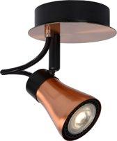 Lucide Bolo 1-lichts Plafondspot - Dimbare LED GU10 - Roodkoper