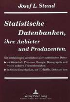 Statistische Datenbanken, Ihre Anbieter Und Produzenten