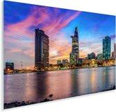 Indrukwekkende kleuren in de lucht boven Ho Chi Minhstad Plexiglas 180x120 cm - Foto print op Glas (Plexiglas wanddecoratie) XXL / Groot formaat!