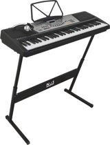 NJS800 complete keyboard set met 61 piano style toetsen - met keyboardboek