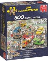 Jan van Haasteren In De Autospuiterij - Puzzel 500 stukjes