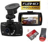 Dashcam Black Diamond FULL HD, Inclusief 16GB Sandisk Ultra Micro SD kaart, Nederlandse gebruiksaanwijzing) en SD-kaart lezer!