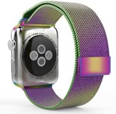 Milanese Loop Armband Voor Apple Watch Series 1/2/3 38 MM Iwatch Metalen Milanees Horloge Band - Colorful
