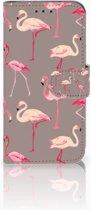 Samsung Galaxy S10e Uniek Boekhoesje Flamingo