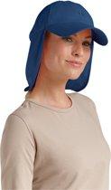 Coolibar UV zonnepet Unisex nekflap - Donkerblauw - Onesize