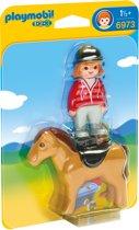 PLAYMOBIL 123 Ruiter met paard - 6973