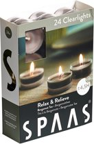 24 Clearcup Theelichtjes Relax & Relieve