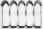 Fotobehang Arch Columns | XXXL - 416cm x 254cm | 130g/m2 Vlies
