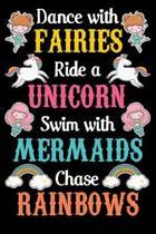 Dance with fairies ride a unicorn swim with mermaids chase rainbow