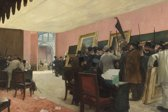 Henri Gervex : A Session of the Painting Jury (1885) Canvas Print