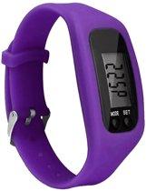 Fako® - Horloge - LCD - Stappenteller - Gesp - Paars