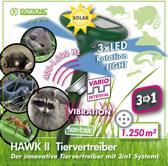 Mobiele dierenverjager  HAWK II SOLAR