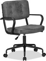 relaxdays bureaustoel - computerstoel - directiestoel - hoogte verstelbaar - grijs